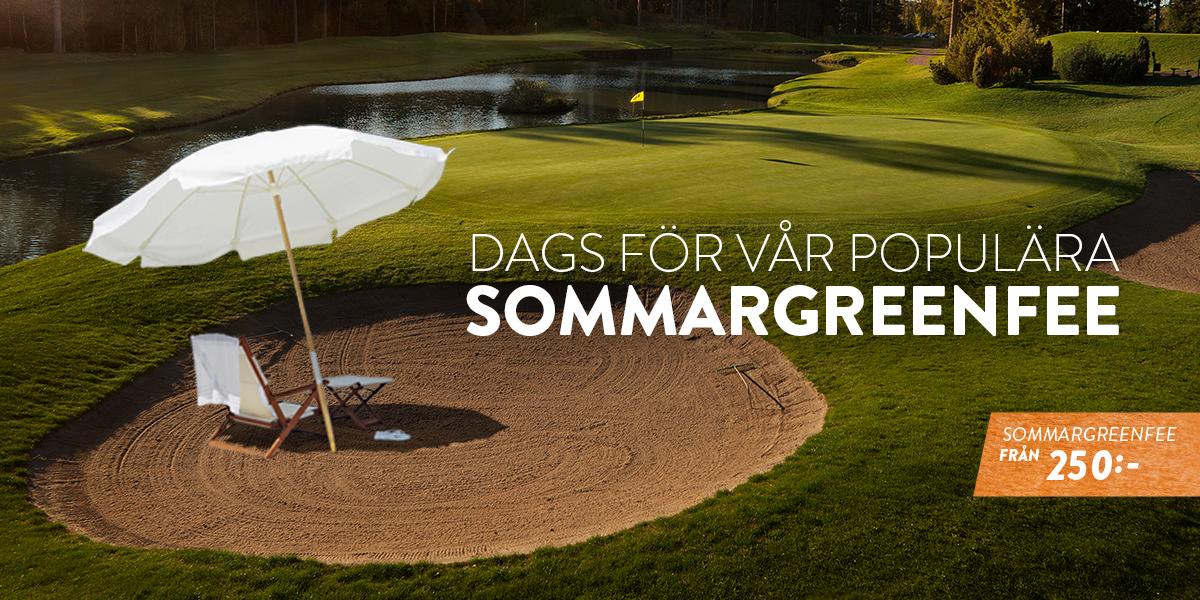 Äntligen dags för vår populära Sommar-Greenfee!
