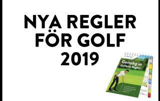 Golfens nya regler 2019